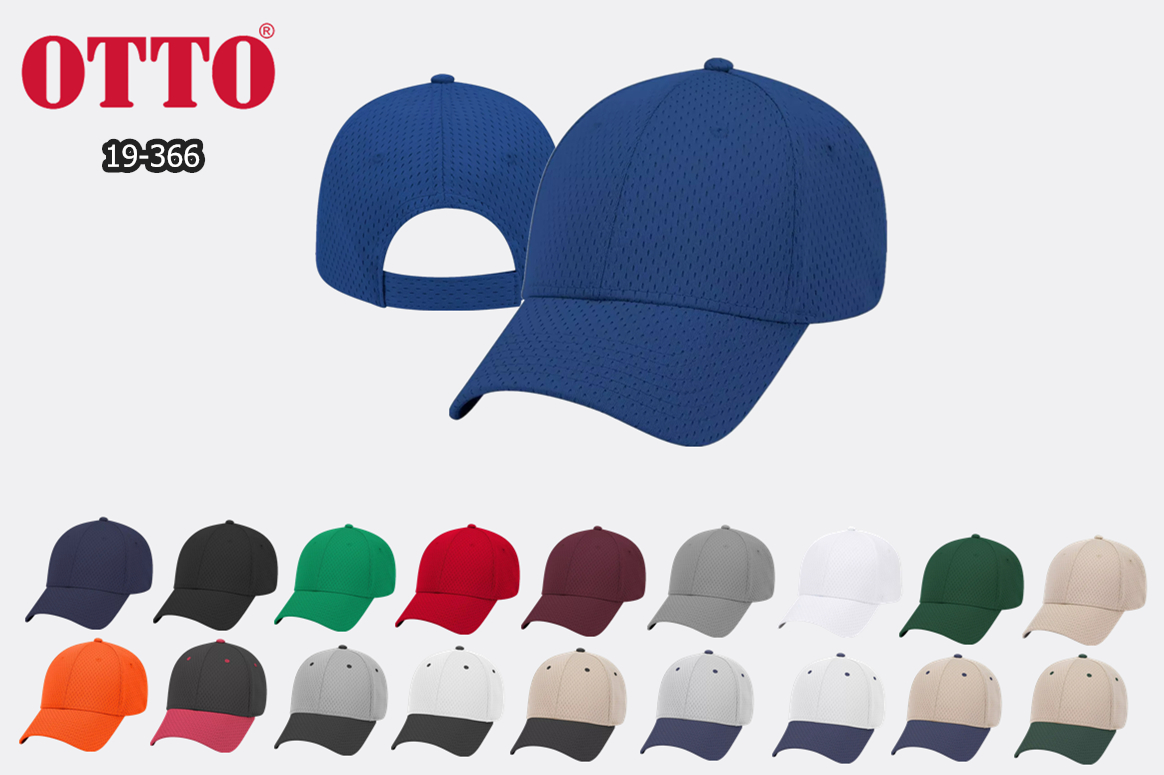 OTTO Cap Polyester Pro Mesh 6 Panel Baseball Cap from NYFifth
