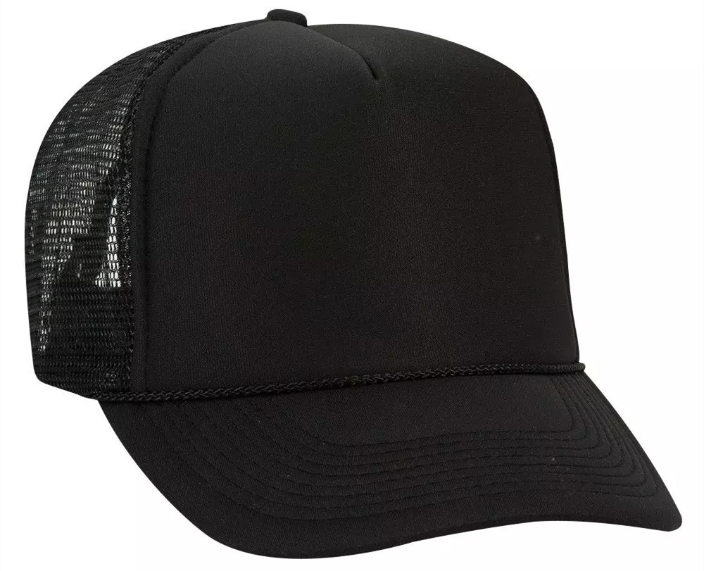 OTTO 5 Panel High Crown Mesh Back Trucker Hat from NYFifth