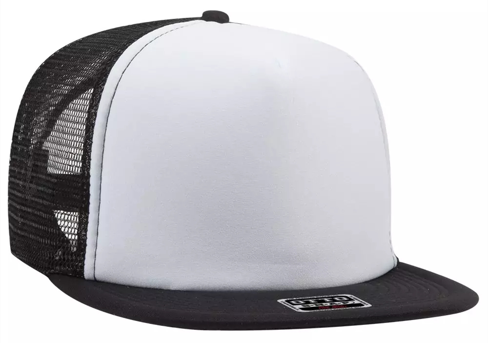OTTO Snap 5 Panel High Crown Mesh Back Trucker Snapback Hat from NYFifth