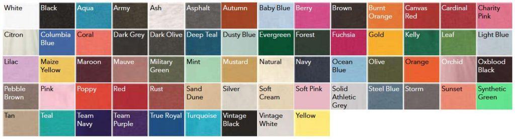 Bella Canvas 3001 Color Chart NYFifth