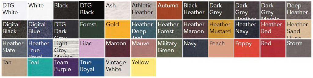 Bella Canvas 3719 Color Chart NYFifth