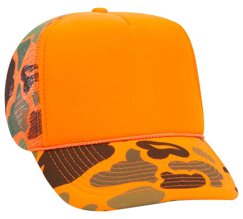 OTTO Cap 49-131 Camouflage Form Front Trucker Cap from NYFifth
