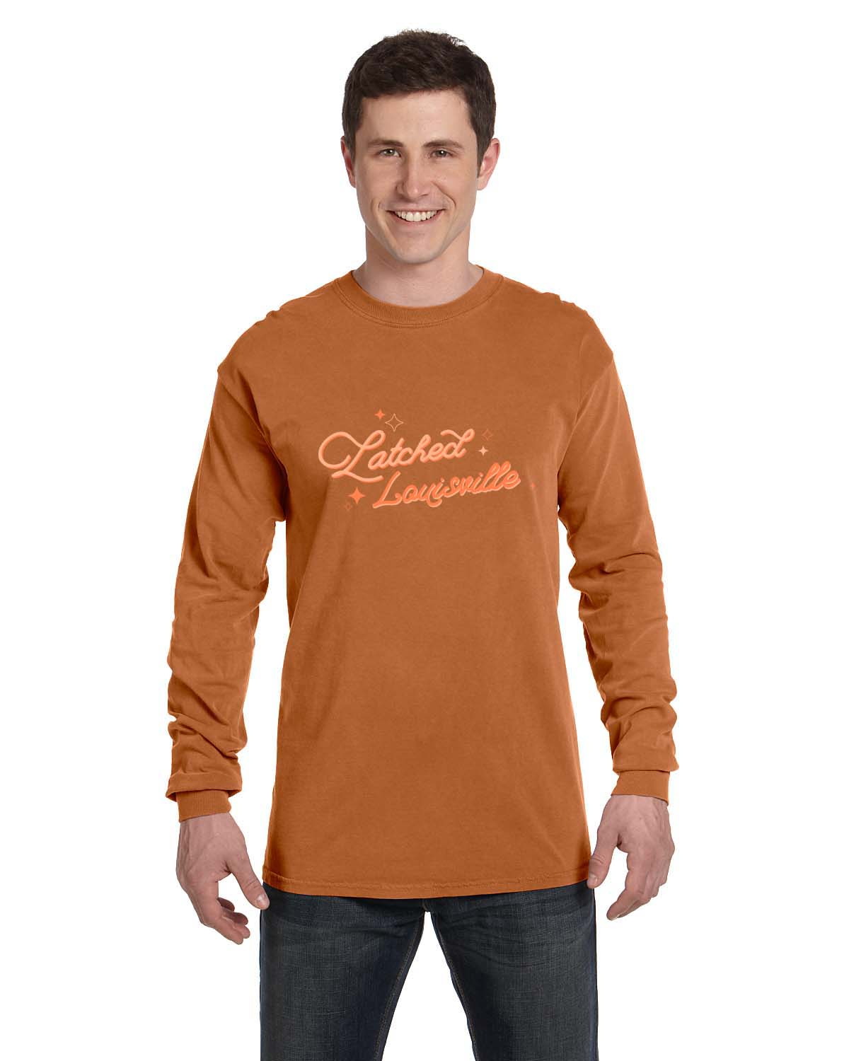 custom design of Comfort Colors C6014  6.1 oz. Ringspun Garment-Dyed Long-Sleeve T-Shirt
