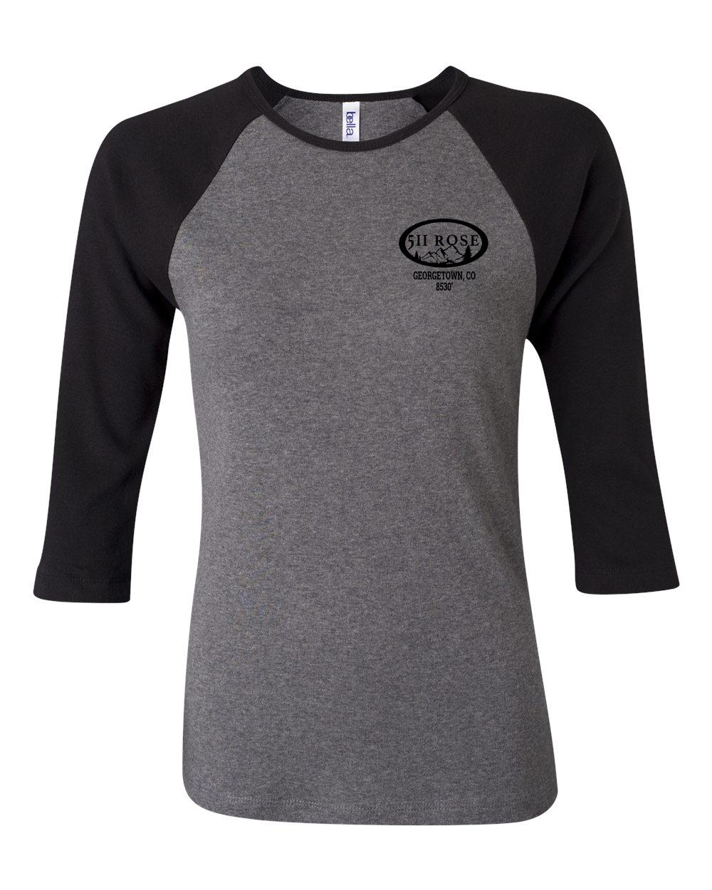 custom design of Bella BB2000  Women's Baby Rib Contrast 3/4 Sleeve Raglan T-Shirt