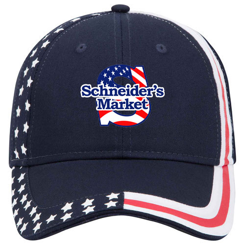 United States flag design cotton twill two tone color six panel low profile pro style caps