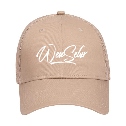 OTTO Cap 83-473 - Cotton Blend Twill 6-Panel Low Profile Trucker Hat