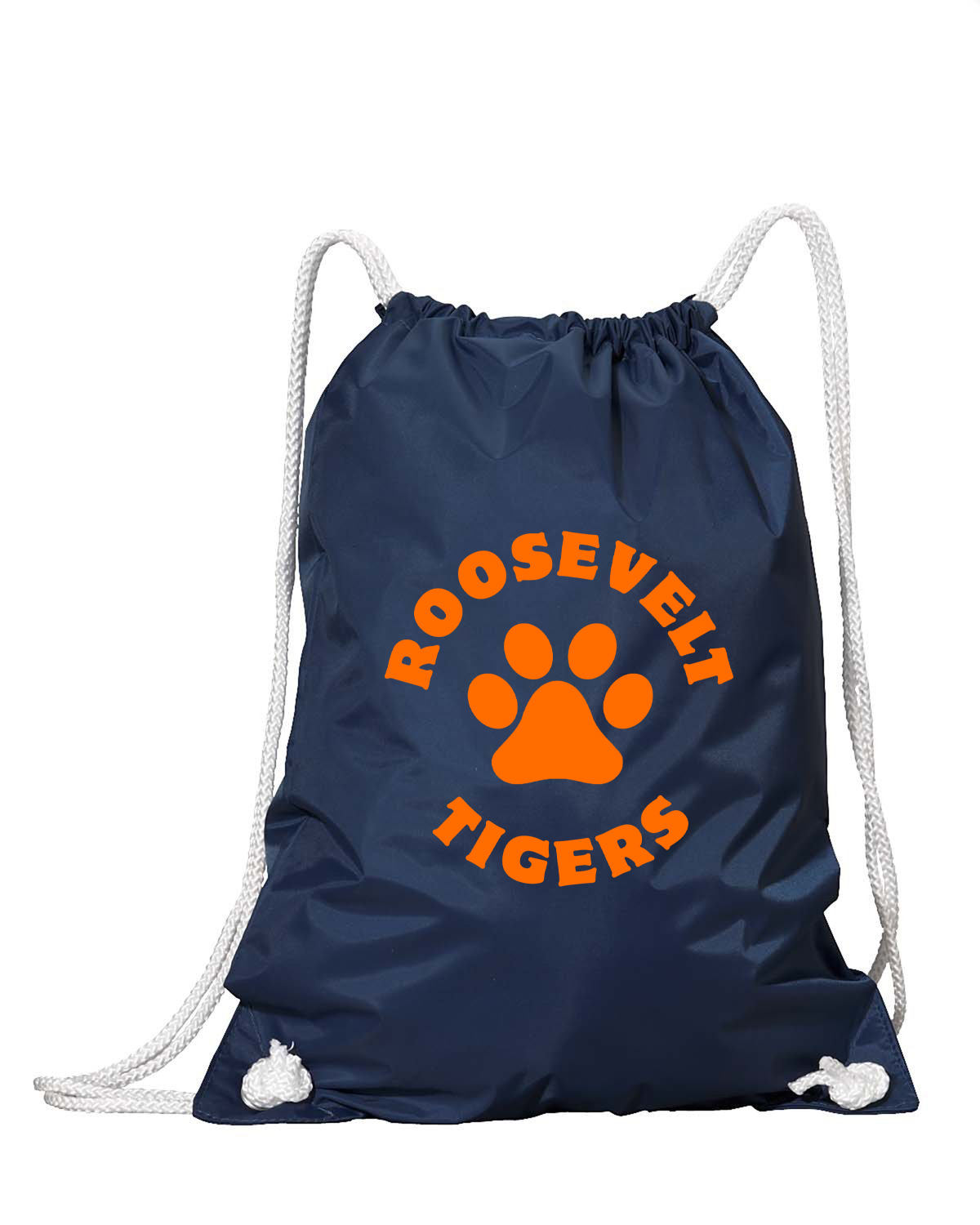 custom design of Liberty Bags 8887-Nylon Drawstring Backpack with White Drawcords