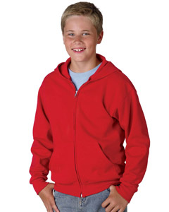 Hanes P480  Youth 7.8 oz., 50/50 ComfortBlend Full-Zip Hooded Sweatshirt