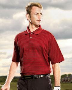 Adidas A60  Men's Golf ClimaLite Horizontal Pencil Stripe Polo