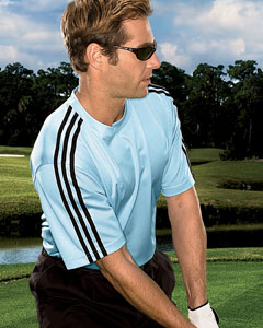 Adidas A72  Men's ClimaLite 3-stripes Golf Tee