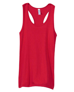 Bella B4070  Women's 2x1 Rib Racerback Longer Length Tank Top