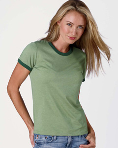 Bella B6050  Women's Heather Ringer T