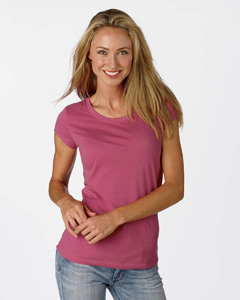 Bella B8101  Women's Sheer Jersey Longer Length T-Shirt