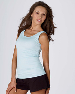 Bella B8780  Women's Sheer Rib Longer Length Tank Top