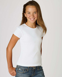 Bella B9001  Girl's Baby Rib T-Shirt