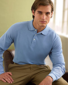 CH110 Chestnut Hill Long-Sleeve Performance Plus Piqu