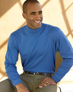 Chestnut Hill CH230  Pima Cotton Mock Neck