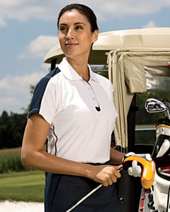 Chestnut Hill CH355W  Women's Piped Technical Performance Polo
