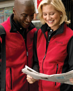 Chestnut Hill CH960  Polartec Colorblock Full-Zip Vest
