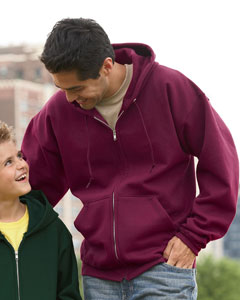 Hanes P180-ComfortBlend EcoSmart Full-zipped hooded sweatshirt