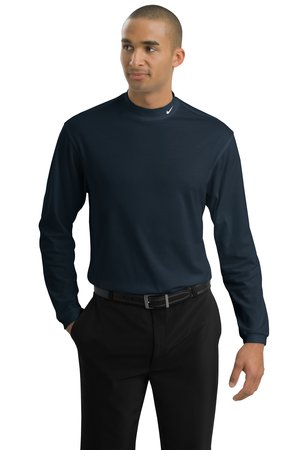 NIKE GOLFDri-FIT Interlock Long Sleeve Mock Turtleneck.
