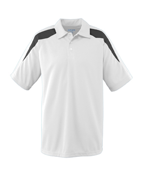 Augusta Drop Ship 5086 Wicking Textured Color Block Sport Shirt