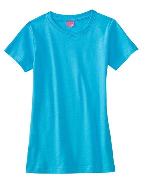 LAT 2616 Girls Fine Jersey Longer Length T