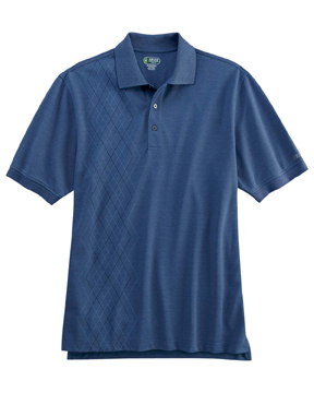 Izod 13Z0110 Men's Performance Oxford Pique Argyle Polo