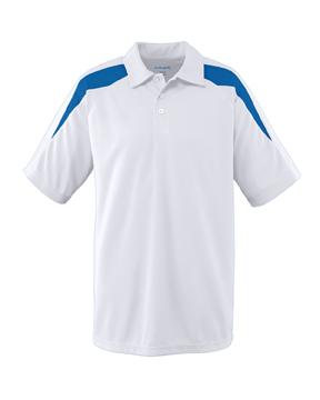 Augusta Drop Ship 5086 Wicking Textured Color Block Sport Shirt