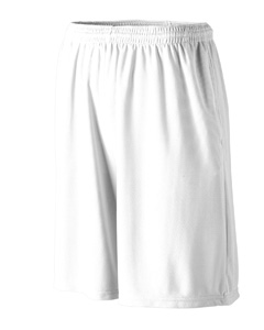 Augusta Drop Ship 803 Longer Length Wicking Short with Pockets