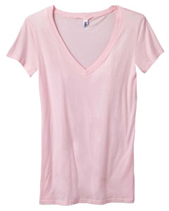 Bella B8417 Ladies� 3 oz. Tissue Jersey Deep V