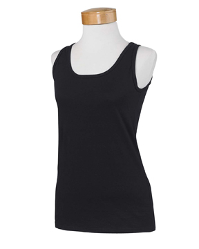 Gildan G642L Ladies 4.5 oz. SoftStyle Junior Fit Tank ...