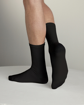 Gildan GL751-Mens Full Black Crew Socks