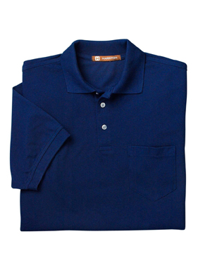 Harriton M265P 5.6 oz. Easy Blend Polo with Pocket