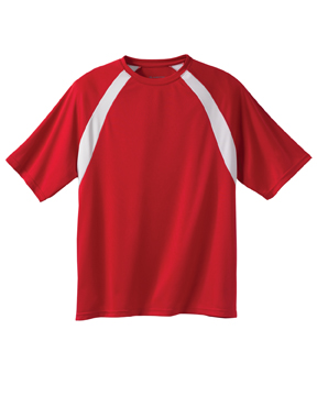 Harriton M322 4.2 oz. Athletic Sport Colorblock T