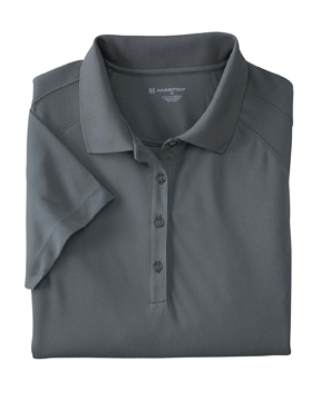 Harriton M374W Ladies 3.8 oz. Polytech Mesh Insert Polo