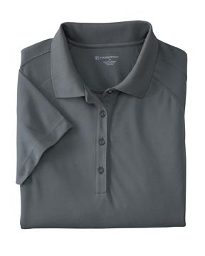 Harriton M374W 女士3.8 oz.多工艺网眼嵌入 Polo衫T恤