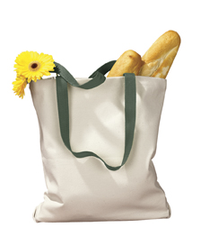 BAGedge BE010 12 oz. Canvas Tote with Contrasting Handles