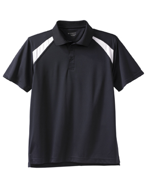 Harriton M318 4 oz. Polytech Colorblock Polo
