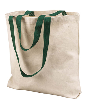 Liberty Bags 8868 - Gusseted 10 Ounce Natural Tote with Colored Handle