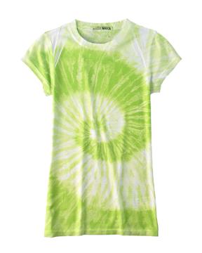 Tie-Dye CD1455 Ladies 100% Spun Polyester with Moisture Management T - Junior Cut
