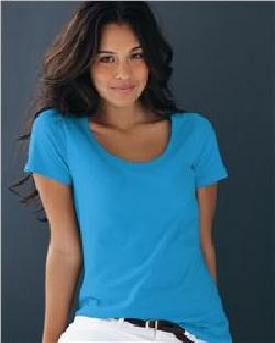 Anvil 391 Ladies' Sheer Scoopneck T-Shirt