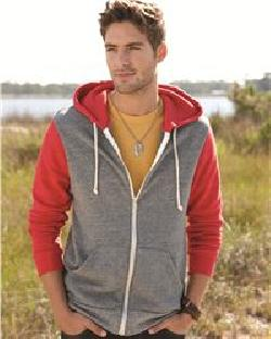 Alternative 32023 Rocky Colorblocked Eco Fleece Hooded ...