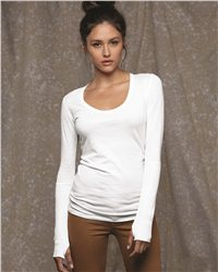 Alternative 4015 Ladies' Rib-Sleeve Scoopneck T-Shirt