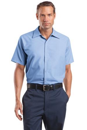 CornerStone® CS26 Short Sleeve Pocketless Gripper Shirt
