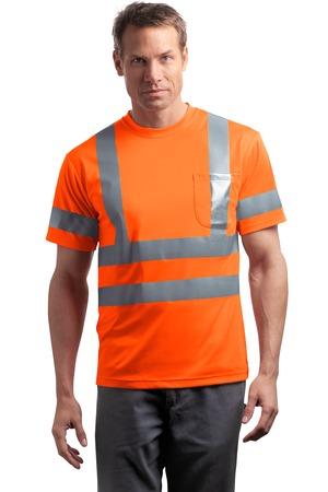 CornerStone® CS408 ANSI 107 Class 3 Short Sleeve Snag-Resistant Reflective T-Shirt