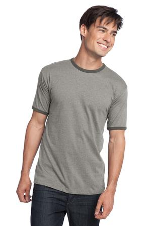 District® DT125 年轻男士棉质撞色滚边纯色T恤