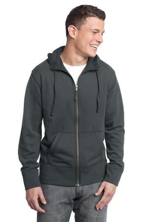 District DT133 Young Mens French Terry Full-Zip Hoodie