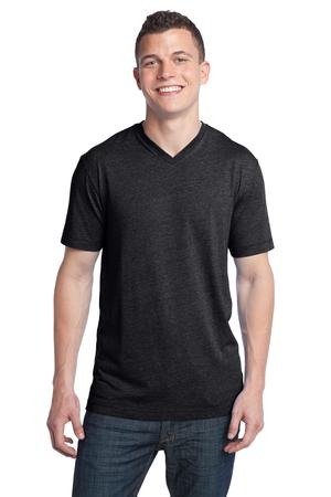 District® DT142V Young Mens Tri-Blend V-Neck Tee