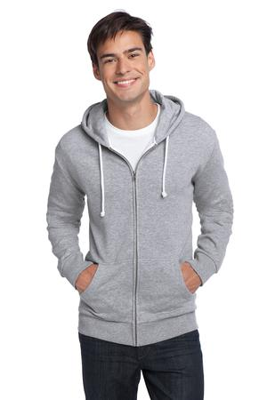 District® DT190 Young Mens Core Fleece Full-Zip Hoodie